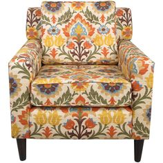 Found it at Wayfair - Monica Adobe Arm Chair Upholstered Chairs, Wingback Chair, Chair Cushions, Cool Chairs, Side Chairs, Dining Chairs, Floral Chair, Floral Accent Chair, Patterned Armchair