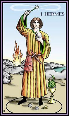 I - Le magicien - Tarot du mystère Sevenfold par Robert Place