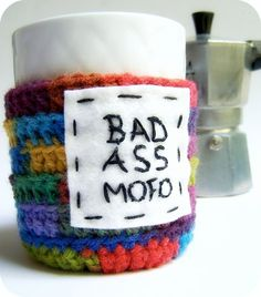 Coffee Mug Cozy. YES.