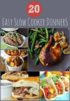 20 Easy Slow Cooker Dinners #crockpot #slowcooker