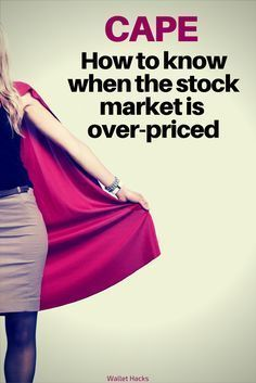 Is the stock market too expensive or too cheap? Learn the only number you'll need to know to find the answer - CAPE.   stock market tips and tricks   tips for investing in the stock market   investing tips and tricks   tips for investing your money in the #StockMarketTips