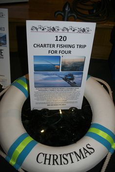 Untitled : Classroom Charity Auction Item - Charter Fishing Trip for four Teen Gift Baskets, Raffle Baskets, Classroom Auction Projects, Auction Donations, Silent Auction Baskets, Nonprofit Fundraising, Fundraising Ideas, School Fundraisers, Auction Items