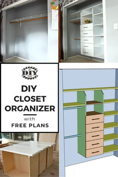 I made this closet organizer because this closet was a mess. My younger son could not reach to hang his clothes so I placed one of the dowels lower for him to reach. Now things are much organized than before. #DIY #homedecor #furniture #wood #project