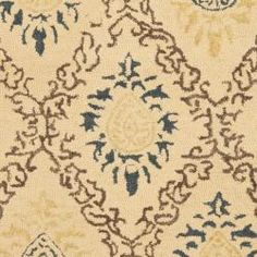 Handmade Traditions Beige Wool Rug (4' x 6')