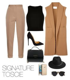 """Caramel Perfection"" by signaturetoscie on Polyvore featuring Bottega Veneta, River Island, Alexander Wang, Christian Louboutin, Givenchy, Christian Dior, BeckSöndergaard, women's clothing, women's fashion and women"
