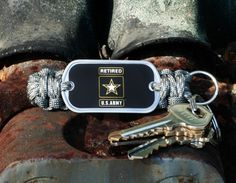 This is the Officially Licensed Retired U.S. Army™ Key Fob in ACU camo and foliage green! Perfect for showing your support for our troops! $19.95