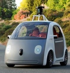 Google's self-driving car.  Pretty shape-function design, I'd like to try one!