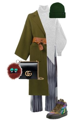 Untitled #147 by lea-monrad-post on Polyvore featuring polyvore, мода, style, STELLA McCARTNEY, Loewe, Pleats Please by Issey Miyake, Valentino, Gucci, Brixton, Fendi, fashion and clothing