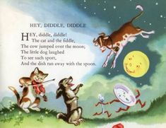HEY DIDDLE DIDDLE Traditional Mother Goose Nursery Rhyme Illustrated by Milo Winter From Childcraft, Volume 1, The Poems of Early Childhood (1954)