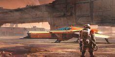 Scifi Concept Art: 'Mars Heavy' by Isaac Hannaford ∞ Infinispace