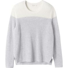 Rebecca Taylor Blocked Cashmere Pullover ($149) ❤ liked on Polyvore featuring tops, sweaters, jumper, layered sweater, sweater pullover, color-block sweater, cashmere crew neck sweater and j.crew cashmere sweaters