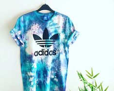 Unisex Authentic Adidas Originals Tie Dye Galaxy T-shirt