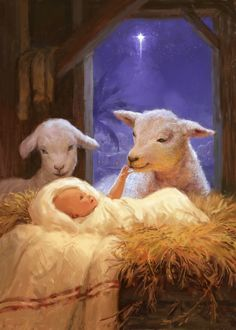 Daniel Rodgers | Advocate Art Christmas Jesus, Christmas Nativity Scene, Christmas Scenes, Christmas Art, Winter Christmas, Vintage Christmas, Catholic Art, Religious Art, Wallpaper Natal