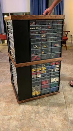 Lego Storage, Shop Storage, Shop Organization, Garage Storage, Woodworking Shop Layout, Woodworking Projects Diy, Diy Projects, Lego Display, Gadgets