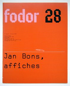 Jan Bons, affiches 11 april - 25 mei 1975 Museum Fodor, Amsterdam Catalogue Graphic design by Wim Crouwel