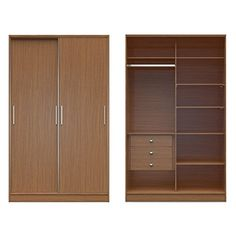 Cool Manhattan Comfort Chelsea 1.0 - 54.33 in. Wide Armoire with 3 Drawers and 2 Sliding Doors