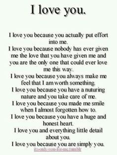 letra de because i love you: