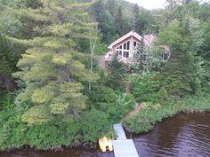 House for sale in Notre-Dame-de-la-Merci, Lanaudière, 1025, Chemin du Cardinal, 28518078 - Centris.ca Notre Dame, Nature, Houses, Cabin, House Styles, Home Decor, Thanks, House, Naturaleza