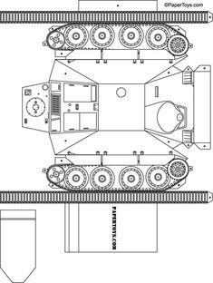 Tank - Paper Cutouts by PaperToys.com