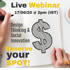 Join my on the live session Wed. 17/03 @ 2(IST) - Design Thinking for Social innovation.  Reserve your spot today - stefano.tips/DTSocialWeb   #DesignThinking #Sustainability #Innovation #Creativity #SocialEnterprise #Innovation #Disrupt #Biz #Live #Impact #Sustainable #SharedVaue