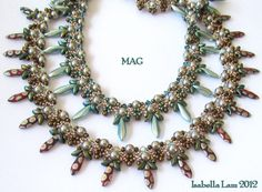 MAG Necklace Beadwork Exclusively PDF Beading tutorial by bead4me