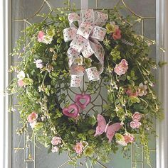 LUXE MOTHER'S DAY wreath pink country cottage chic shabby victorian garden boxwood luxe love romance pink tea roses on Etsy, $129.95