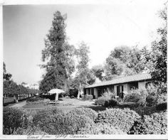 Bungalow 7, Orange Grove Vista, and, in the distance, the main building of the San Marcos #hotel.   Catalog # 93.8.41 Chandler Museum chandlerpedia.org.