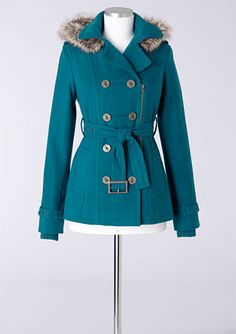 Wool Belted Zip Coat With Thinsulate™