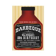 Barbeque Sauce Party Invitations by reflections06
