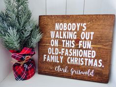 Christmas vacation wood sign, Christmas vacation home decor, Clark Griswold christmas quote, Christmas decor, Holiday decor, Home decor by Remiscrafts on Etsy https://www.etsy.com/listing/490992551/christmas-vacation-wood-sign-christmas