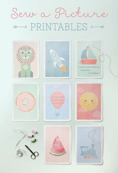 Sew a Picture Printables ~ Tinyme