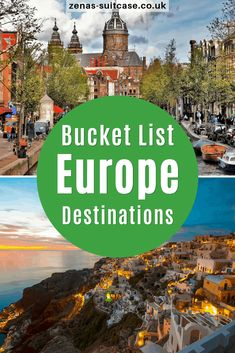 Making that all important list of places you want to travel to? These bucket list Europe destinations are just what you are looking for! Pin now Travel Around Europe, Rome Travel, Europe Travel Tips, European Travel, Europe Destinations, Holiday Destinations, Travel Ideas, Travel Inspiration, Europe Bucket List