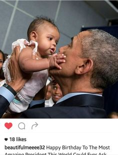 The amazing #babywhisperer. #POTUS #BarackObama
