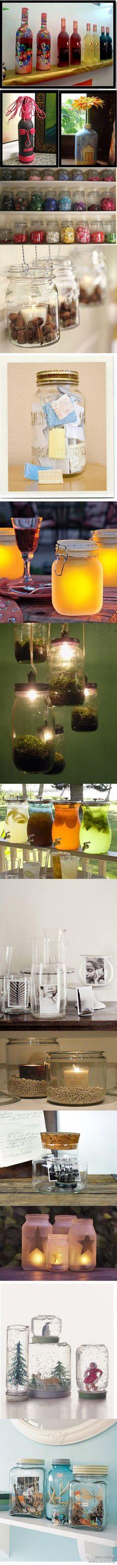 wow lots of jar ideas