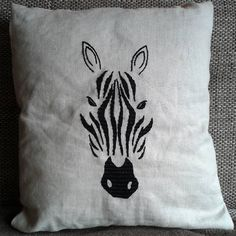 Homemade pillow with embroidery :) #homemade #handmade #decor #pillow #pillows #embroidery #needlework #sewing #art #artist #f4fart #creativity #creative #home #creativeathome #decoration #zebra #stripes #like #thread #homedecor #follow #stitching #decoration #comment #design #athome #fabric #hobby #zebras