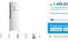 Geladeira/Refrigerador Panasonic Frost Free Duplex - 387L [re] generation NR-BT42BV1X - Somente 220V << R$ 142405 >>