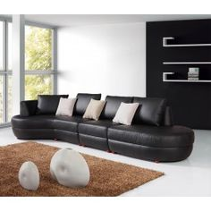 Modern Leather Sectional Sofa - 2818 - 1750.0000