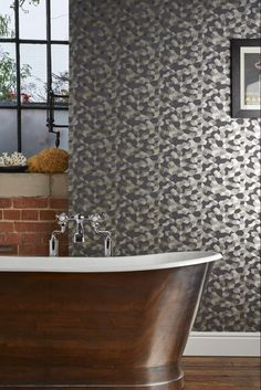 Stunning geometric wallpaper design called Ingot by Cole and Sons.