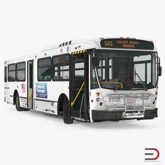Bus Nabi Model 416 Rigged model