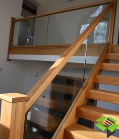 View our popular staircase gallery with traditional oak stairs and steps oak staircase, glass staircase panelling, Wood Railings For Stairs, Oak Stairs, Glass Stairs, Wood Staircase, Staircase Railings, Banisters, House Stairs, Modern Staircase, Glass Stair Railing