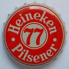 Heineken Pilsener cap Beer Bottle Caps, Bottle Top, Retro Vintage, Stencils, Awesome Stuff, Drink, Logos, Shirts, Heineken