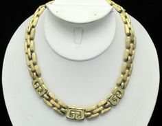 Vintage GIVENCHY Paris New York LOGO Runway Couture Choker Style Necklace  http://www.ebay.com/itm/Vintage-GIVENCHY-Paris-New-York-LOGO-Runway-Couture-Choker-Style-Necklace-/360484843211?pt=Vintage_Costume_Jewelry=item53ee922ecb