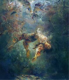 ● The Chase by Hu Jun Di (China) - Beautiful Painting!