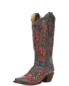 83136be1fd5 WeStErN CoWgiRL ReD AnTiQuE SiLvEr RhiNeStOnE HeArT BoOt