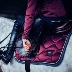 How rich is this plum! I think it suits every colour horse or pony! Equestrian Boots, Equestrian Outfits, Equestrian Style, Equestrian Fashion, Horse Fashion, Horse Riding Clothes, Riding Hats, Riding Helmets, Horse Riding Gear