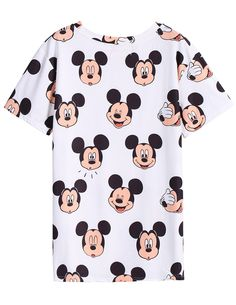 Mickey Print Slim T-Shirt