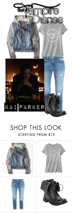 """The Vampire Diaries - Malachai ""Kai"" Parker"" by rosslynch-179 ❤ liked on Polyvore featuring American Eagle Outfitters, Old Navy and Frame Denim"
