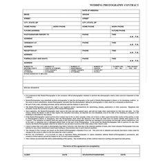 Free Wedding Photography Contract Forms | Flint Photo - Wedding ...