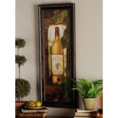 Our Noble Vineyard II Framed Art Print is a great artwork for your kitchen or wine cellar! Showcasing a wine bottle, this print is finished in an ornate frame. Wine Wall Art, Framed Wall Art, Framed Art Prints, Art Encadrée, Accent Decor, Vineyard, Gallery Wall, Wall Decor, Painting