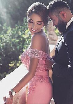 Glamorous Prom Dress,Off-the-shoulder Formal Prom Dresses With Detachable Train,Sexy lace Prom Dress